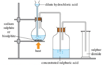 Image result for the preparations of sulphur dioxide