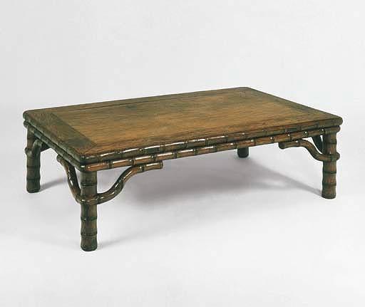 HUANGHUALI BAMBOO-MOTIF KANG TABLE, KANGZHUO 17th century